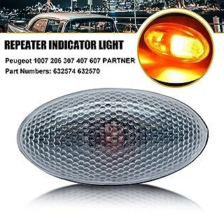 Maso Car Side Light Repeater Anzeigelampe Seitenlampen Passend für Peugeot 206 407 307 607 Partner 632574 632570