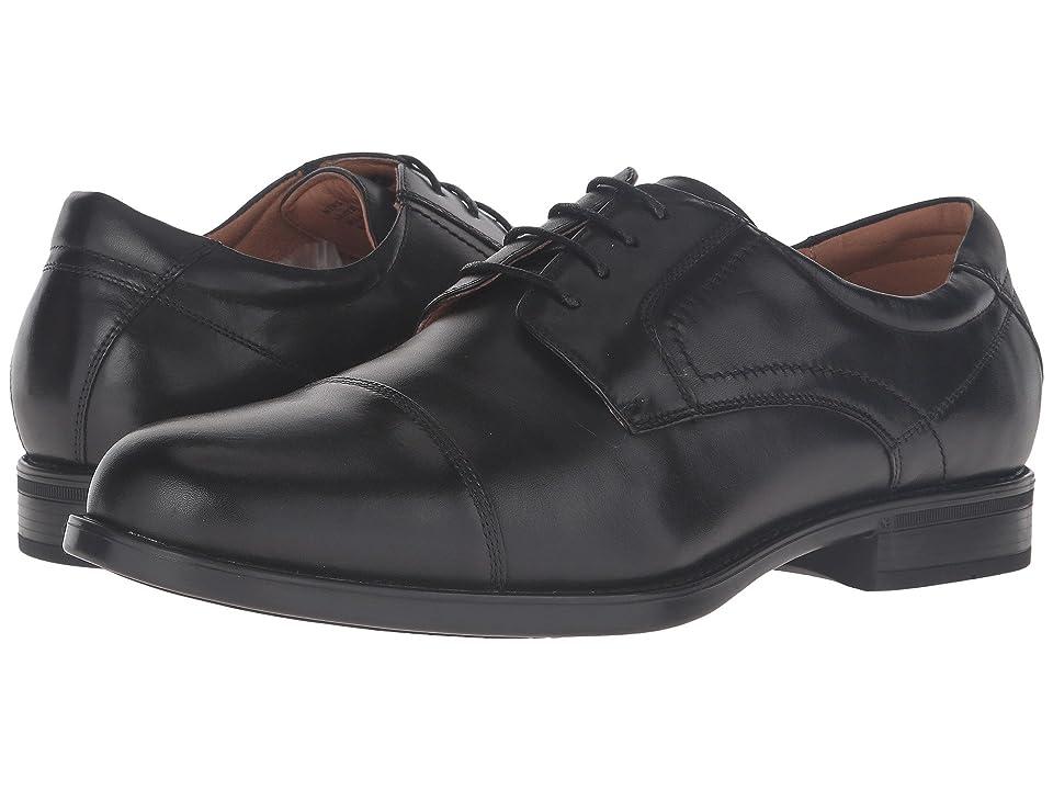 Florsheim Midtown Cap Toe Oxford (Black Smooth) Men