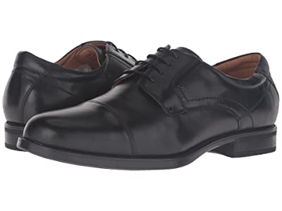 Florsheim Midtown Cap Toe Oxford (Black Smooth) Men
