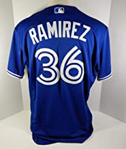 2018 Toronto Blue Jays Carlos Ramirez #36 Game Issued Blue Jersey 32 Patch - Game Used MLB Jerseys