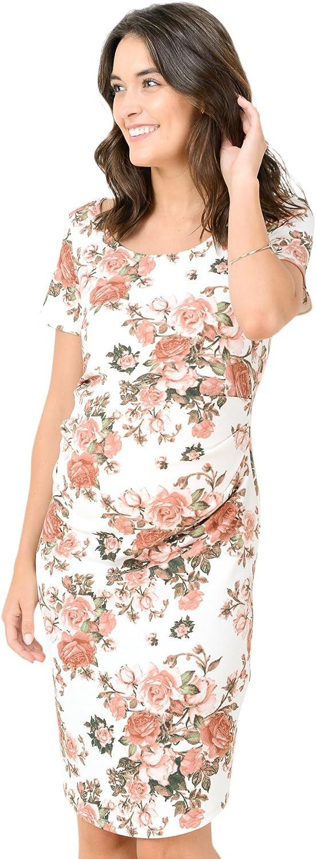 HELLO MIZ Womens Maternity Max 87% OFF Philadelphia Mall Bodycon Pleat Dress Side with