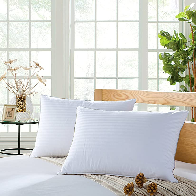 お金ゴムメタン自慢Versari Luxury 90?% Goose Down pillow-100?%コットンshell-ultra soft-standard Queen(2 pack)