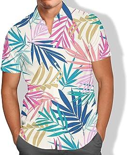 Camisa Praia Galhos Aquarela Folhagens Tropical