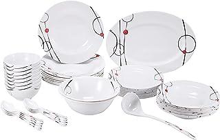 Royalford Melamine Ware 45 Pieces Dinner Set, RF6718