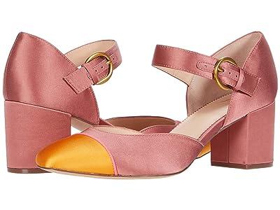 J.Crew Color-Block Mary Jane Sonia Pump (Dusty Begonia) High Heels