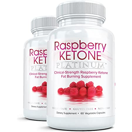 Raspberry Ketone Platinum (2 Bottles) - Clinical Strength - All Natural Fat Burning, Weight Loss, Diet Formula, 60 capsules