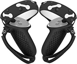 MASiKEN Touch Controller Grip Cover for Oculus Quest 2, Anti-Throw Handle Protective Sleeve Accessories with Adjustable Wr...