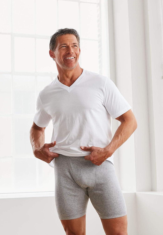 KingSize Mens Big /& Tall Cotton V-Neck Undershirt 3-Pack