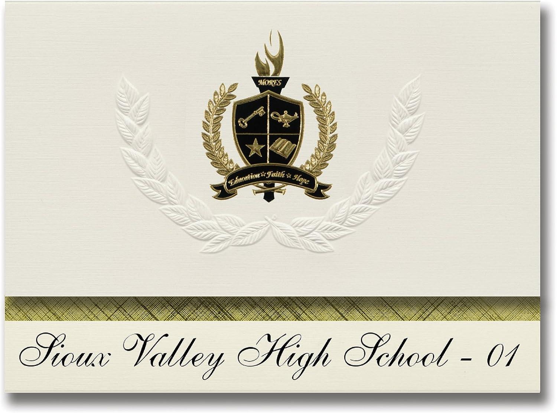 Signature Ankündigungen Sioux Valley High School – 01 (Wolga, SD) Graduation Ankündigungen, Presidential Stil, Elite Paket 25 Stück mit Gold & Schwarz Metallic Folie Dichtung B078VD6KFG     Einfach zu spielen, freies Leben