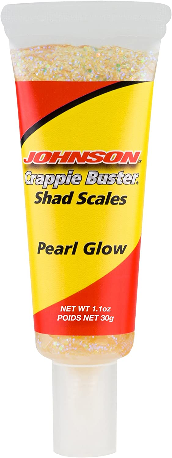 Colorado Springs Mall Johnson Crappie Buster Shad Scales 1.1oz Discount is also underway Fishing Pearl Attr Glow