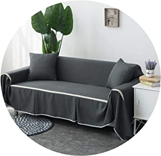 Grey Solid Color Sofa Towel Sofa Cover Set Elastic Sofa Slipcovers Sofa Covers for Living Room Pets Couch Cover Loveseat 1Piece,Color 13,1-Seater 210 X 200cm