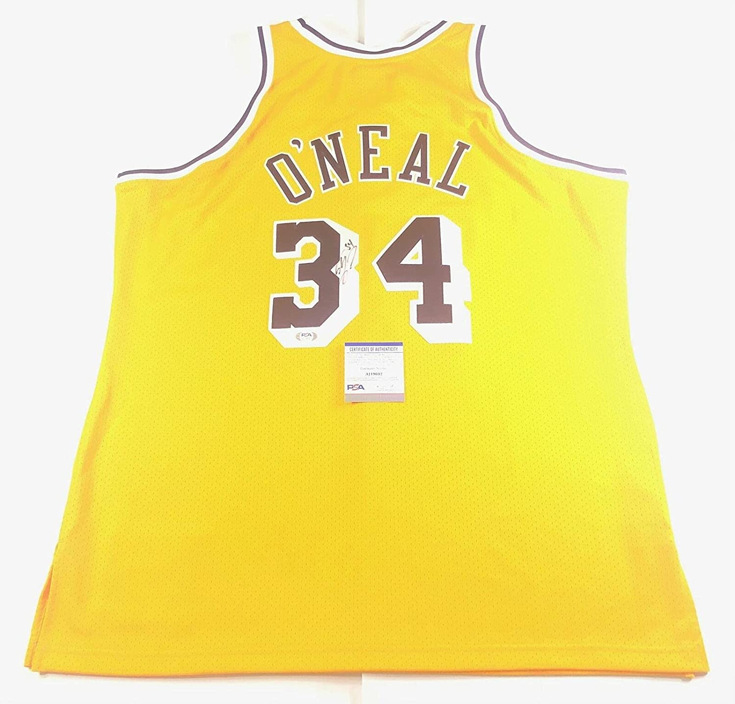 Shaquille O'Neal Signed Jersey PSA/DNA Los Angeles Lakers ...