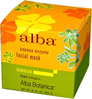 Alba Botanica Hawaiian Facial Mask, Pore-fecting Papaya Enzyme 3 oz (Pack of 7)
