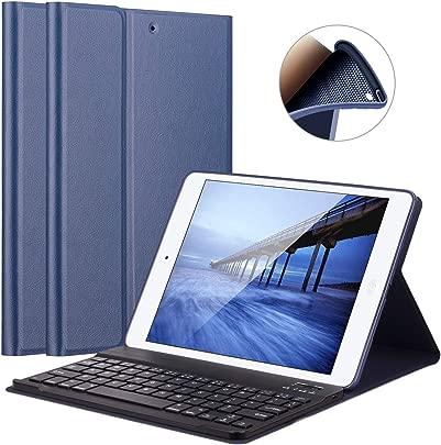 LUCKYDIY iPad Tastatur-Schutzh lle ultra-d nne Stand-H lle magnetische abnehmbare Bluetooth-Tastatur f r Apple iPad Blau Marineblau iPad 9 7 2018 2017 iPad Air1 Air2 Schätzpreis : 29,99 €