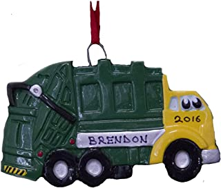 Personalized Garbage Truck Christmas Ornament 2019