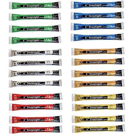 "12 Hour 6 Pack Premium Bright 6/"" Snap /& Light Sticks MediTac Green Glow Sticks"
