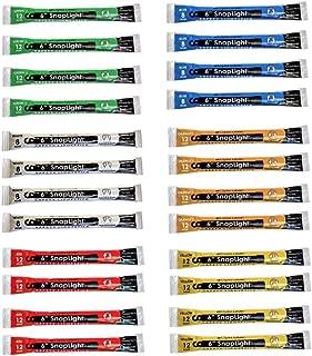 Cyalume SnapLight 6 Industrial Grade Light Sticks, Glow Sticks, Multi-Color 24 Pack (Green, White, Red, Orange, Yellow, Blue)