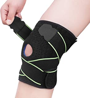 Knee Brace Compression Sleeve Support - Adjustable Strapping Sleeves Women Men Braces with Dual Side Stabilizers & Patella Gel Pads for Arthritis, ACL, LCL, MCL, Meniscus Tear, Joint Pain Relief