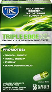 Triple Edge XL - Daily Energy and Stamina Booster - Herbal Supplement with Natural Extracts That Promotes Physical Energy, Mental Energy, Stamina