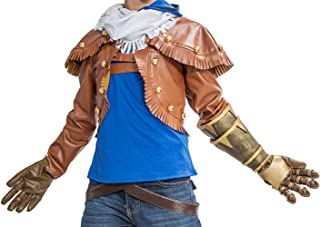 Xcoser LOL Ezreal Cosplay Jacket & Tshirt & Scarf & Pants Outfit Costume for Halloween