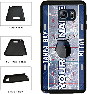 BleuReign(TM) Personalized Custom Name Hockey Team License Plate Tampa Bay Phone Case TPU RUBBER SILICONE Phone Case Back Cover For Samsung Galaxy S8 Plus