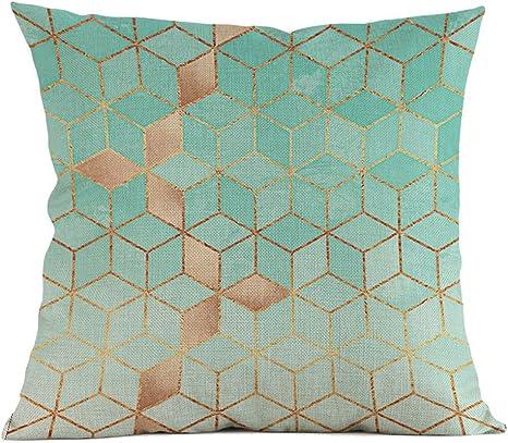 Dasongff Bunter Geometrischen Druck Kissenbez/üge Spannbettlaken Hause Sofakissenbezug G/ünstige Kissen Moderne Kissenh/üllen Polsterung Weich Baumwolle 45x45cm