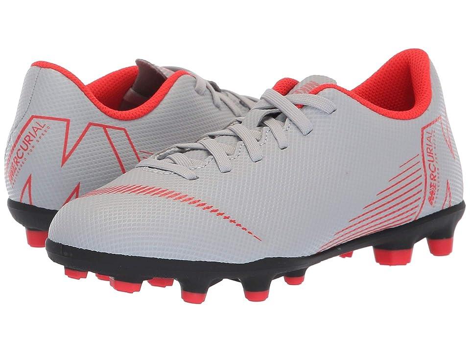 Nike Kids Vapor 12 Club MG Soccer (Toddler/Little Kid/Big Kid) (Wolf Grey/Light Crimson/Black) Kids Shoes