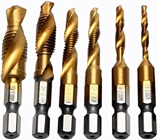 iTimo DIYWORK Tap Drill M3 M4 M5 M6 M8 M10 Hand Tools Drill Bits 6pcs/set Thread Metric Plug Spiral Point HSS Screw