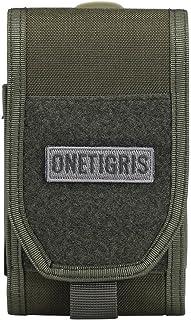OneTigris米軍愛用スマートフォンポーチ iPhone7 7Plus iphone6 6Plus iPhoneSE ドコモ Sony xperia Galaxy など5.5インチスマホ対応 粘着的なファスナー仕様 MOLLE装備に着装可能...