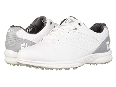 FootJoy ARC SL Spikeless Plain Toe w/ Microperfs (White/Grey) Men