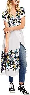 Womens Jaimie Floral Print Short Sleeves Midi Dress