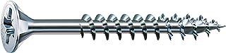 SPAX Universele schroef, 4,0 x 40 mm, 1000 stuks, kruiskop Z2, verzonken kop, gedeeltelijke schroefdraad, 4CUT, WIROX A3J,...