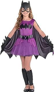 Purple Batgirl Halloween Costume for Girls, Batman, Large, Includes Accessories