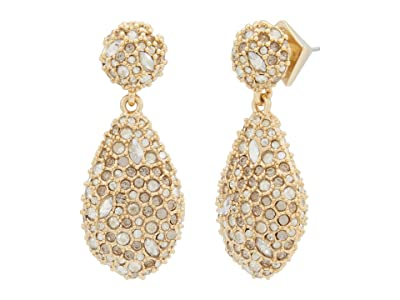 Alexis Bittar Pave Pod Drop Post Earrings (Clear Crystal) Earring