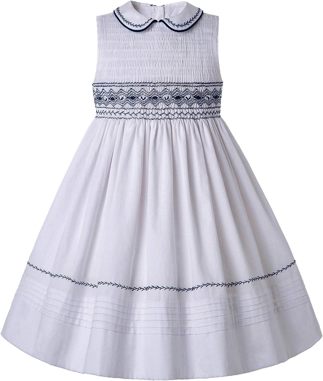 Pettigirl Girls Sundress Safety and trust Hand Smocked Dress Sleeveless wi Ruffle Purchase