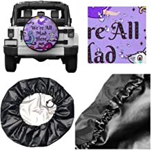 Spare Tire Cover Print Alice in Wonderland Universal Waterproof Dust-Proof Wheel Covers