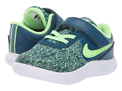 Nike Kids Flex Contact (Infant/Toddler) (Blue Force/Lime Blast/Barely Volt) Boys Shoes