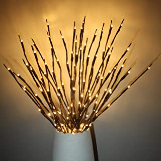 FunieToys 4 Pack LED Branch Lights Battery Powered Willow Twig Lighted Branch Decorative Lights Artificial Tree DIY Light ...