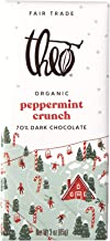 Sponsored Ad - Theo Chocolate Organic Holiday Peppermint Crunch 70% Dark Chocolate Bar, 3 Ounce Bar, 12 Pack