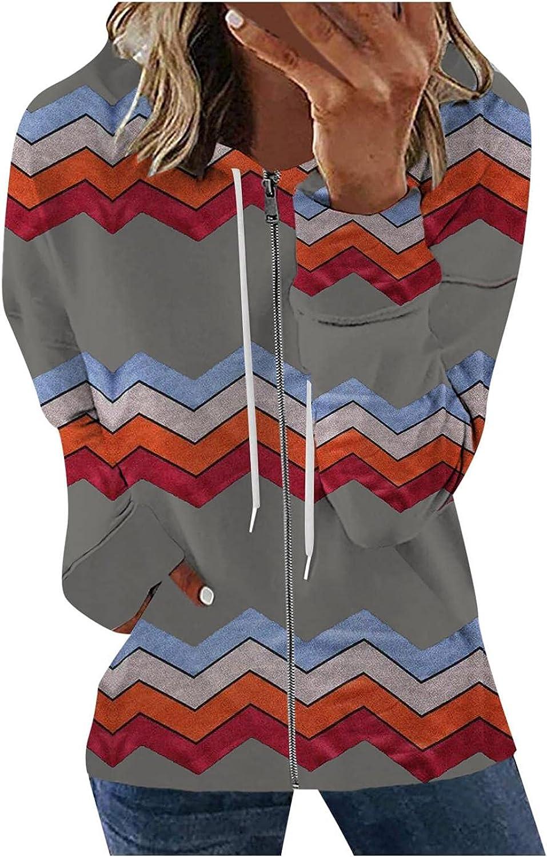 Masbird Hoodies for Women, Womens Casual Long Sleeve Sweatshirt Zip Up Hoodies Drawstring Hooded Jacket with Pockets