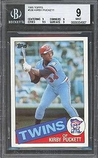 1985 topps #536 KIRBY PUCKETT minnesota twins rookie card BGS 9 (9 9 9.5 9) Graded Card