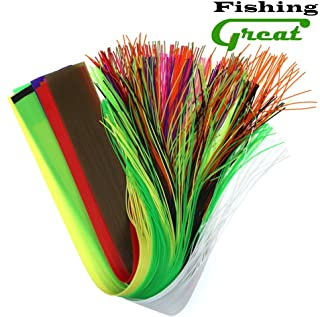 Greatfishing 10pcs Mix Color 40 Strands/Pack 30CM Length Micro Silicone Rubber Skirts for Soft Worm Trout Fly Legs Fishing Jig Lure Skirts Fly Tying Material