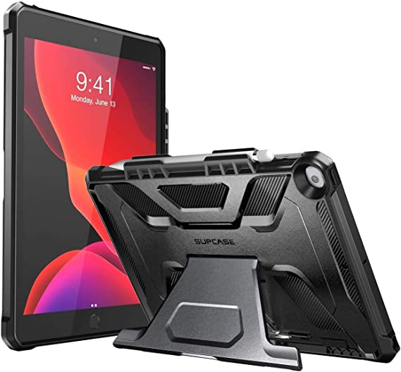 Amazon Com Supcase Ub Series Designed For Ipad 10 2 2019 2020 Ipad Air 3 Case 10 5 Inch With Built In Apple Pencil Holder Full Body Rugged Protective Case For Ipad 8th Generation Ipad 7th Generation Black