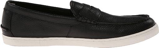 Black Leather/White