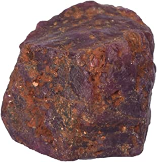 100% Certified Natural Star Ruby, Rough Star Ruby 68.00 Carat Crystal Healing Loose Gemstone for Jewelry Making ES-855