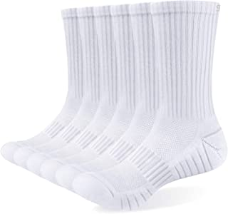 Mens Socks 6 Pairs Wicking Breathable Cushion Comfortable Casual Crew Socks Outdoor Multipack Performance Hiking Trekking ...