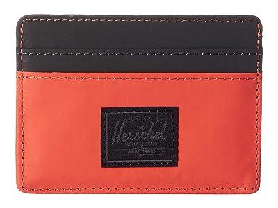 Herschel Supply Co. Charlie RFID (Hot Coral Reflective/Black) Wallet Handbags