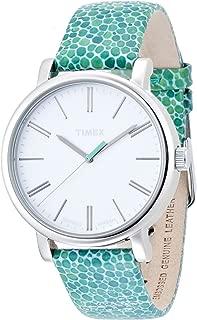 Timex Women's T2P324 Originals Blue Leather Watch