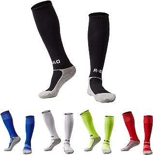 Kids Youth Soccer Socks Knee High Cotton Towel Bottom...