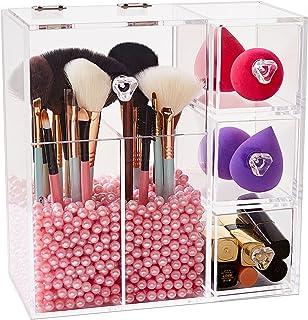 112a11880e7 Amazon.com  Pink - Makeup Organizers   Bathroom Accessories  Home ...